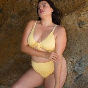 Other - *JUST IN*Sunny Side Tie Front Plus Size Swimsuit